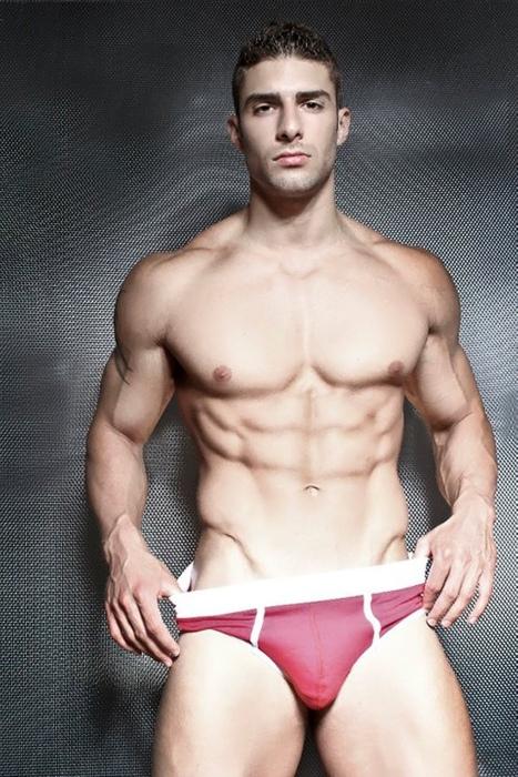 Sexy man in Red Underwear.