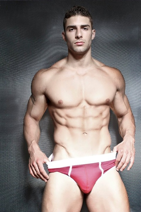 Sexy man in Red Underwear.